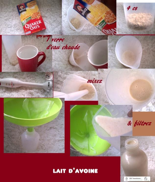 etapes lait davoine